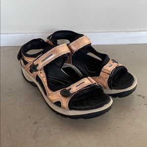 Gold Velcro sandals